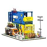 DOGZI DIY Casa de muñecas de Madera Artesanía Kit de miniaturas - Camión contenedor Hola Verano horario apartamento Niños Adultos Día del Niño Cumpleaños Decoraciones para el hogar