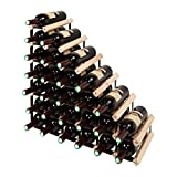 Mensolas Escaleras - Botellero con espacio para 27 botellas de vino Hermoso y...