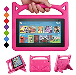 【All-New Fire 7 Tablet Case Compatible with 9th Generation 2019/7th Generation 2017 / 5th Generation 2015】- Design specifically for Fire 7 2015 / Fire 7 2017 / Fire 7 2019 Tablet 【Compatible with Fire 7 2015 & Fire 7 2017 & Fire 7 2019】-Cutouts for c...