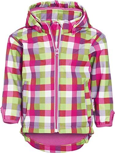 Playshoes Jungen Softshell Karo Jacke, Pink (pink/Multicolour), 128