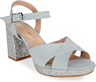 Tacon Zapatos esSandalias Para Cielo Mujer Amazon Azul ynOmN80vw
