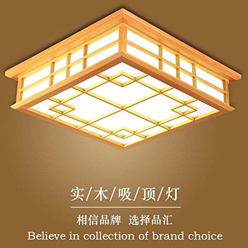 LYXG 24 W Japon tatami et les feux de la lampe sont en bois massif chambre lumière Plafond LED lumière de plafond (450 * 450 * 120mm), lumière chaude