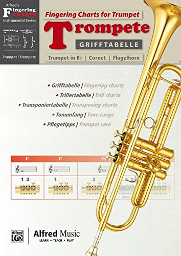 Alfred's Fingering Charts Instrumental Series: Grifftabelle Trompete | Fingering Charts Trumpet | Trompete | Buch: German / English Language ... (Alfred's Fingerling Charts Instrumental)