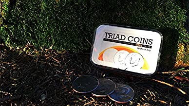 Vanishing Inc. Triad Coins (US Gimmick and Online Video Instructions) by Joshua Jay Trick