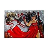 4530 cm pintura de diamante de punto de cruz de vino tinto belleza de las mujeres mosaico pegado bordado de cristal bricolaje dibujo artesanía