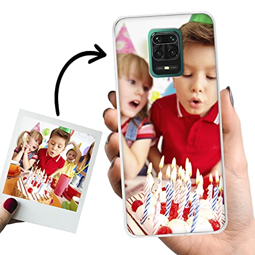 Phone Case Trends Funda Xiaomi Redmi Note 9S y 9 Pro Personalizada con Foto o Texto – Carcasa Móvil personalizable de Gel Flexible - Transparente, Antigolpes y de Silicona - Impresión Directa