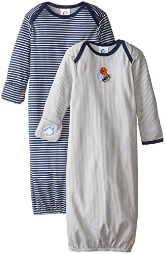 Gerber Baby Boys' Lap Shoulder Gown, Sports, 0-6 Months (Pack of 2)