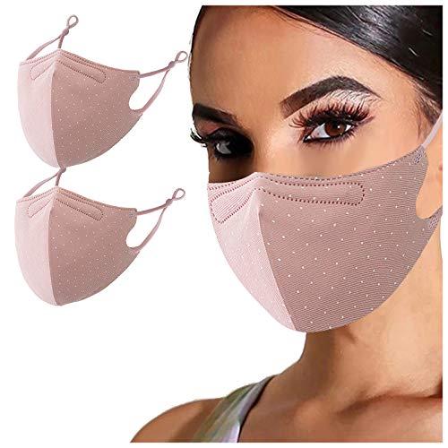 TriLance - 2 protectores de nariz de tela, lavables, reutilizables, negros, de algodón, para hombre y mujer, protección contra el polvo, resistente a la saliva, para planchar