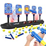 Electronic Shooting Target for Nerf Guns - 5 Targets & 3 Game Modes Digital Scoring Auto Reset Targets for Shooting Practice Toys, Ideal Gifts for Kids, Teens, Boys and Girls (2020 Updated Edition)