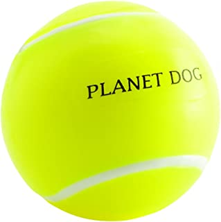 Planet Dog Orbee Tuff Soccer, Durable Dog Play-Chew-Fetch Ball for Large Dogs, 100% Guaranteed Tough, Made in The USA (Medium 2.5-Inch, Yellow)