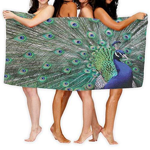 Toalla Shower Towels Beach Towels Imagen de alas abiertas de pavo real Toalla De Baño 80X130CM