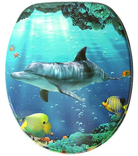 WC Sitz, hochwertige Oberfläche, einfache Montage, stabile Scharniere, Delphine