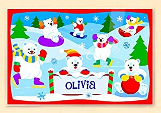 Olive Kids Personalized Polar Bear Placemat