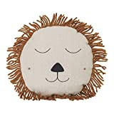 ferm Living Safari Kinderkissen Löwe Natur 35 cm