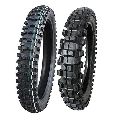 Max Motosports Front & Rear Motorcycle Tires 80/100-21 & 110/90-19
