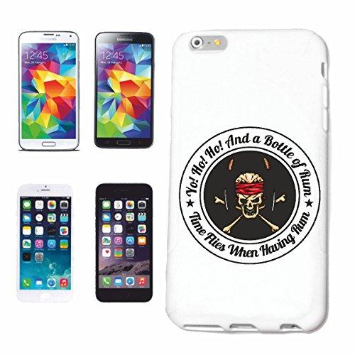 Reifen-Markt Hard Cover - Funda para teléfono móvil Compatible con Apple iPhone 7S Una Botella de Ron CRÁNEO del Pirata CORSARIO CORSARIO del Pirata Cráneo esquelé