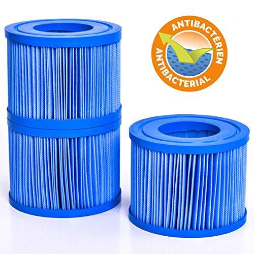 3x Ersatz-Filterkartusche Filter antibakteriell passend für alle BRAST Netspa & IzySpa Whirlpools (3er Set)