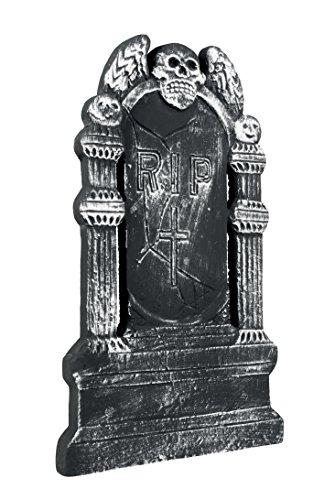 Boland 72019 - Grabstein Fliegender Totenkopf RIP, ca. 50 x 30 cm