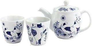 猫 ロンロンとミュウ ペアカップとポット セットほんぢ園 13485