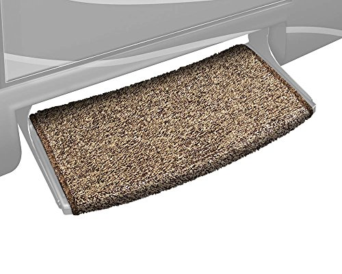 Prest-O-Fit 2-0201 Wraparound Radius RV Step Rug Brown 22 In. Wide
