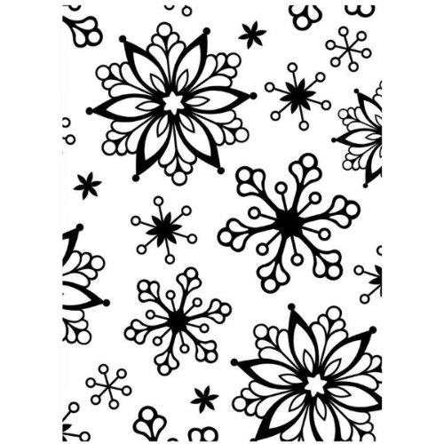 Darice Carpetas de estampación, Plantilla Copos de Nieve, Plastic, 8.5x5.3x0.11 Inches