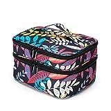 CAOO Bolsas de Maquillaje de Viaje portátiles Estuches cosméticos de Doble Capa Organizador de Esmalte de uñas, Bolsas de Aseo para Mujeres y Hombres
