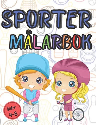 Sport Målarbok alder 4-8: Fotboll, basket, karate och många andra ritböcker att färga 90 Storformat Sidor   från 4 år
