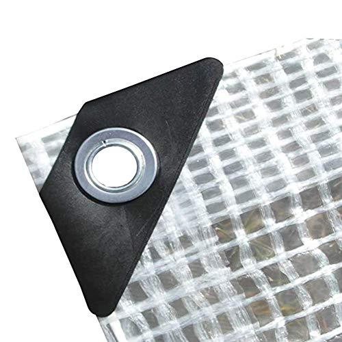 Tarp Waterproof PVC Clear Tarpaulin Sheet, PE Mesh Sunshade Heavy Duty Rainproof Insulation Awning, for Garden Plant Greenhouse Camping