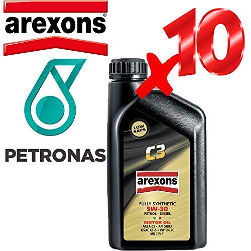 Olio Motore 5w30 Petronas/AREXONS C3 Sintetico da 10 L Litri per Motori Benzina e Diesel GPL e metano
