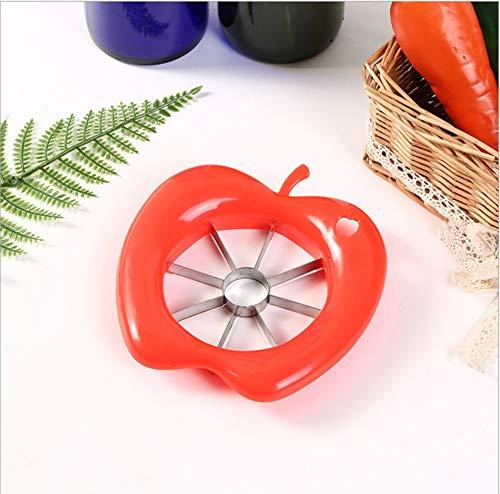 Keukengerei, gereedschap, appelsnijder, roestvrij staal, groenten en fruit, eenvoudig met messensnijder Rood