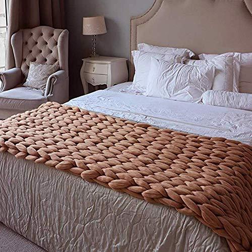 Divano-letto sedia coperta del tiro cavo maglia Tessuti a mano Knit della coperta del tiro, fatta a mano Big Chunky cotone grosso braccio cavo Accent coperta morbida pet acrilico poltrona letto Mat Ru