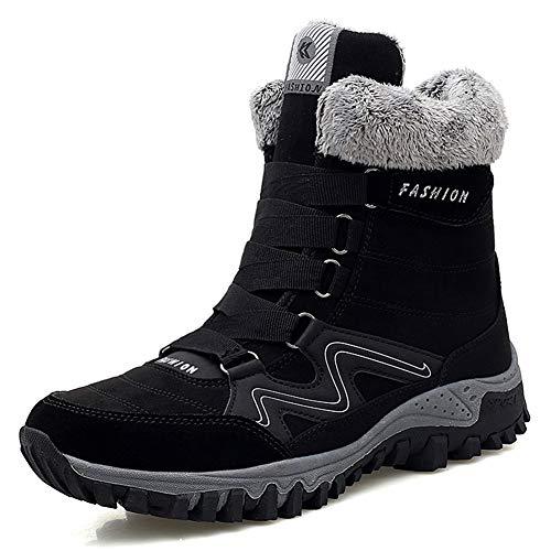 AARDIMI Ciepłe buty zimowe damskie, śniegowce, wodoszczelne, do trekkingu, rozmiar 35-42 1747 Z, kolor czarny. 40 EU