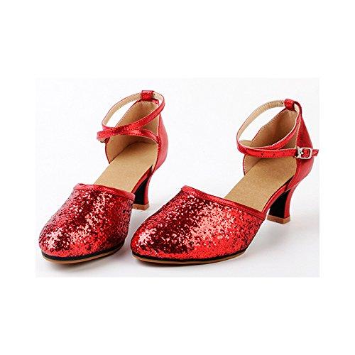 OCHENTA , Damen Jazz & Modern, Rot – Suede Red – Größe: 37.5 - 2