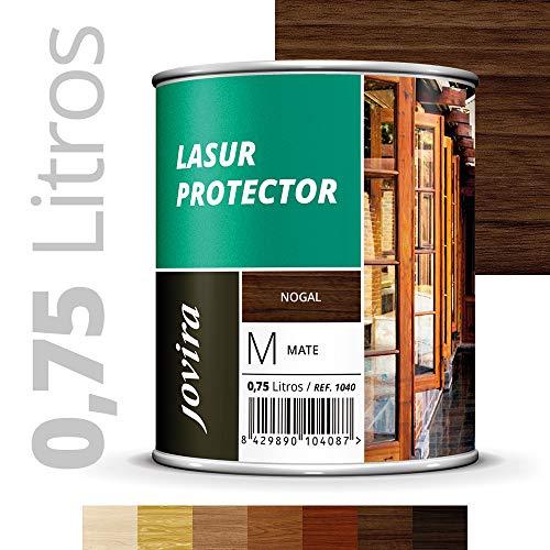 LASUR PROTECTOR MATE Protege, decora y embellece todo tipo de madera (750ML, NOGAL)