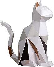 Amoy-Art Figurillas Decorativas con Diseño Gato Escultura Figura Estatua Regalo Decoración para el Hogar Sala de Estar Oficina Animal Cat Figurine Statue Casa Resina 18cmH