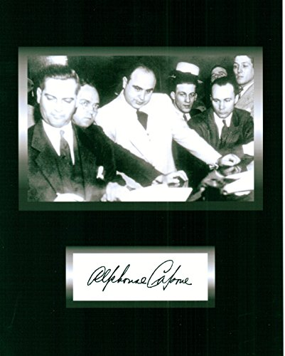 Kirkland Al Capone, Notorious Chicago Gangster 8 X 10 Gambling Photo Autograph on Glossy Photo Paper