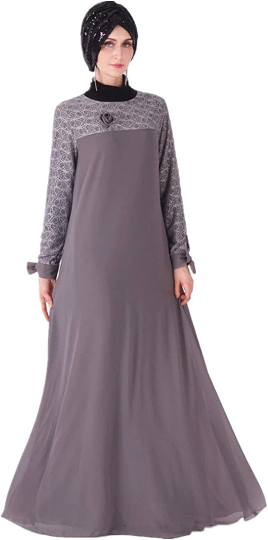 Max 73% OFF HZUX Vintage Muslim Women's Long Dubai Women Free Shipping New Kaftan Dress
