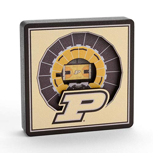 YouTheFan NCAA Purdue Boilermakers - Mackey Arena 3D StadiumView Magnet3D StadiumView Magnet, Team Colors, Small (8495643)