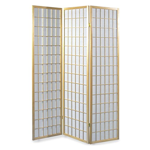 IDIMEX Paravent, Spanische Wand, Raumteiler Trennwand, para-1, Holzrahmen Natur mit Reispapier