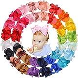 JOYOYO - 20 lazos para el pelo para bebés y niñas de 15 cm, con lazo grande y elástico suave para el pelo para bebés recién nacidos