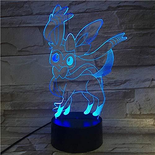 Lámpara 3D ilusión óptica LED para niños, lámpara de guitarra eléctrica, lámpara de noche, lámpara LED, 7 colores cambiantes, interruptor de control táctil con cable USB cámara