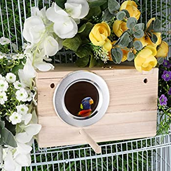 Balacoo Perruche Nid Boîte-Oiseaux Maison De Nidification Naturel Bois Boîte de Sélection Calopsitte Perruches Parrotlets (Petite Taille)