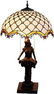 QGL-HQ Tiffany Style décoratif Lampe de Bureau Lampe de Table for Salon Chambre Nuit Lumière 16 Pouces en Verre Tiffany St...