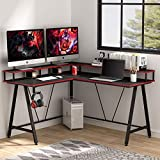Tribesigns L-Shaped Desk with Shelf, Corner Computer Gaming Desk with Monitor Stand for Home Office...