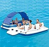 Aufblasbare Schwimmende Insel Pool Float Freizeit Schwimmen Spielzeug Spaß Entspannung Spielzeug (390 * 270 CM)