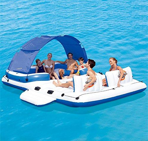ZXH Juguete Inflable Flotante de la relajación del Juguete de la natación del Flotador de la Piscina de la Isla Flotante (390 * 270CM)