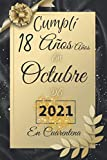 cumplir 18 años en Octubre de 2021 En Cuarentena: Feliz 18 cumpleaños 18 años de edad Regalo para niños y niñas, awsome Tarjeta alternativa 2021, ... niños niñas nacidos en 2003 (Spanish Edition)