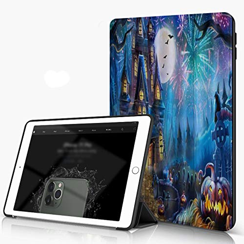 Case for iPad 10.2 Inch, iPad 7./8. Generation shell Luxury Golden Lotus Chinese Leaves White Background, Slim Lightweight Stand Protective Case for iPadr,Auto Wake/Sleep