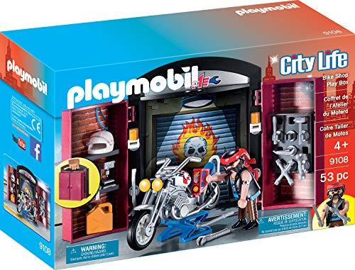 Playmobil 9108 Stadtleben Bike Shop Play Box, Mehrfarbig