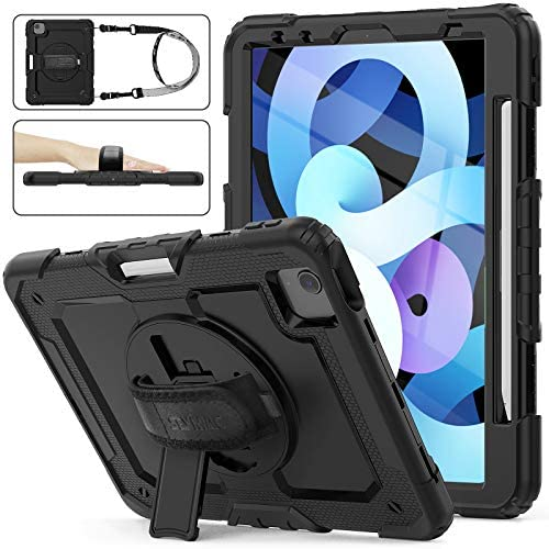 SEYMAC stock Case for iPad Air 4 10 9 2020 3 Layer Drop Proof Protection Case with 360 Rotating product image